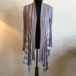 INC International Concepts Sweaters - Bronze/Gold Metallic Wide Ribbed Duster/Cardi NWT